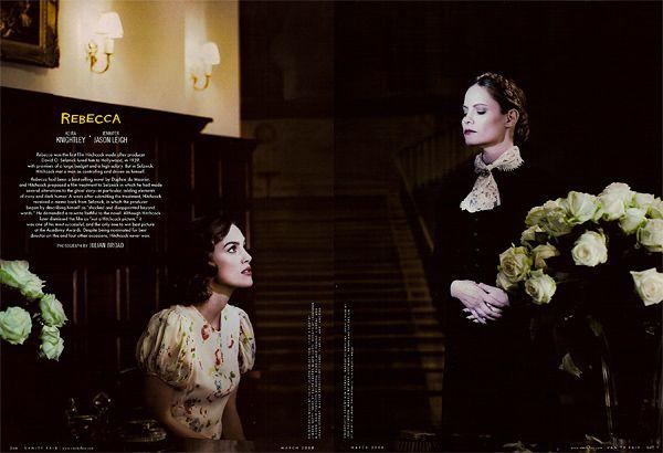 Vanity Fair 2008 Hollywood Portfolio - Hitchcock Classics - Keira Knightley and Jennifer Jason Leigh in Rebecca