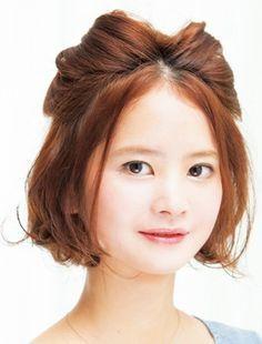 ラクラク猫耳ポンパドールの、いたずらっぽい表情に胸キュン! - ヘアスタイルを探す | 愛され女子のヘアカタログ