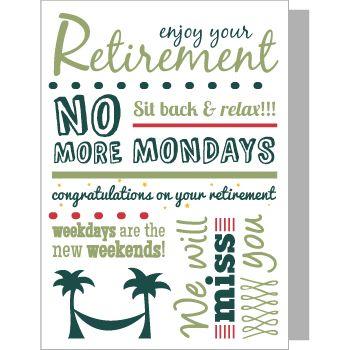 30 best cards retirement images on pinterest. Black Bedroom Furniture Sets. Home Design Ideas