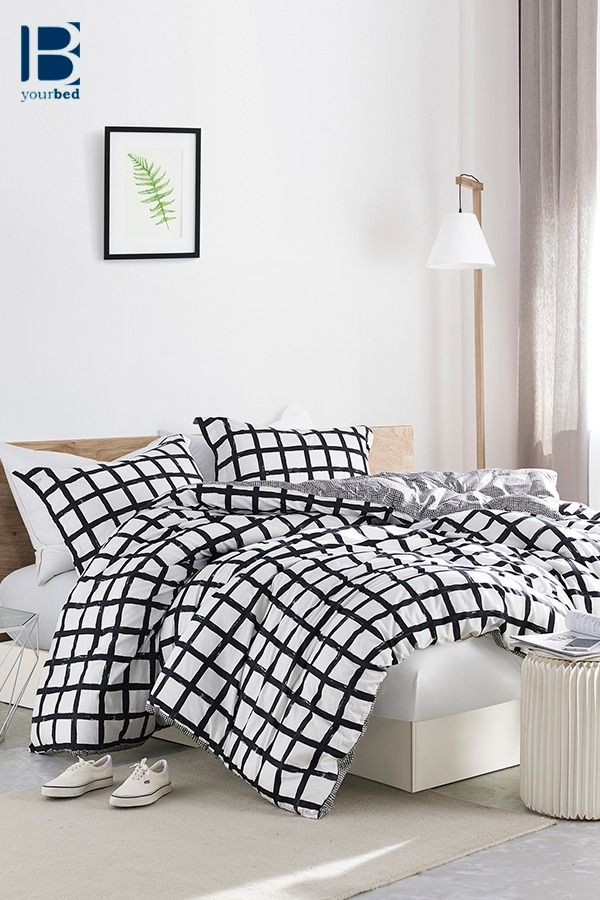 Most Comfortable Twin Xl Queen Or King Oversize Bedding Made With Soft Cotton Unique Chroma Black And White Xl Comforter Dorm Comforters Black Comforter Matching Bedding And Curtains