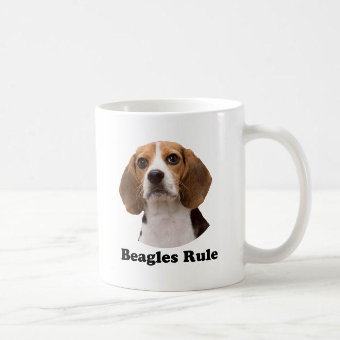 Beagles Rule Classic White Coffee Mug Custom Mugs Mugs Coffee