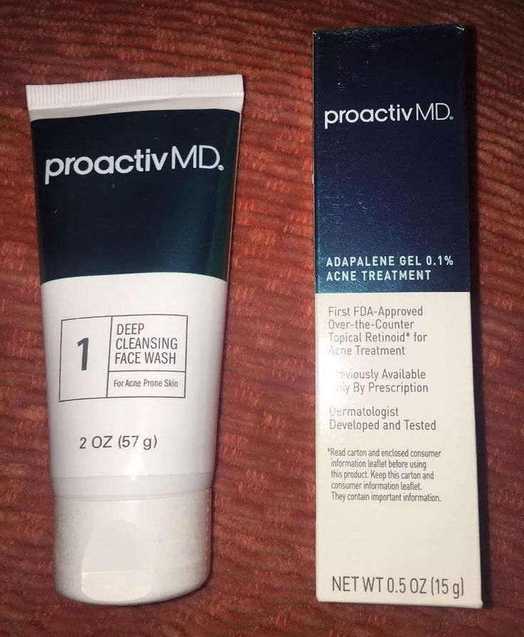 Proactiv MD Deep Cleansing Face Wash 2oz Adapalene Gel 0.1% Acne Treatment 0.5oz  | eBay