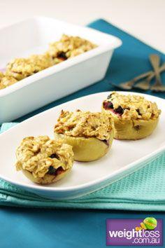 Healthy Dessert Recipes: Baked Apple Crisp. #HealthyRecipes #DietRecipes #WeightlossRecipes weightloss.com.au
