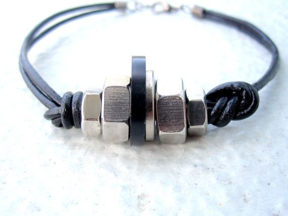 Mens Bracelet Mens Leather Bracelet Hardware by pearlatplay, $18.00 #teamwwes