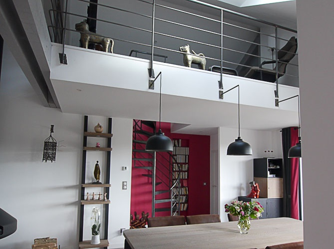 19 best images about rampe escalier on pinterest chloe for Maison style contemporain