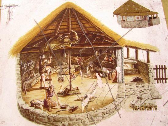Interior Santa Tecla Celtic dwelling, Spain. 2nd century B.C.