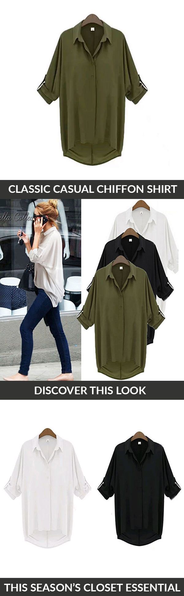Stay warm but look cool as the weather gets colder with the Chill with Me Chiffon Shirt. The shirt's relaxed silhouette makes it perfect for lounging around, working in the office, or chilling out with friends. Pair with skinny jeans and cute flats for a versatile day-to-night look.