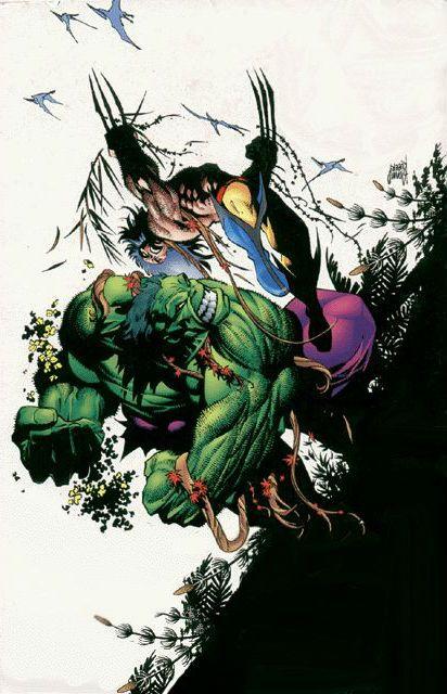 Hulk Vs Wolverine by Adam Kubert