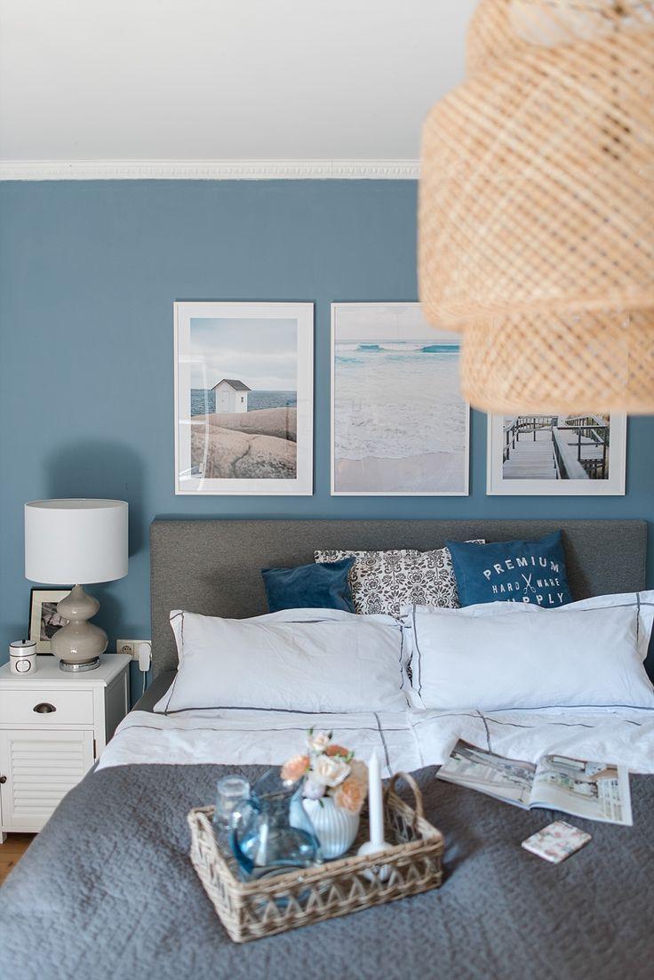 Unser Neues Schlafzimmer Und Eine Losung Fur Die Blaue Wand