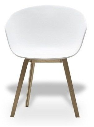 Außergewöhnlich HAY Stuhl About A Chair AAC 22   Weiß, Beine Eiche, Schale Polypropylen Weiß