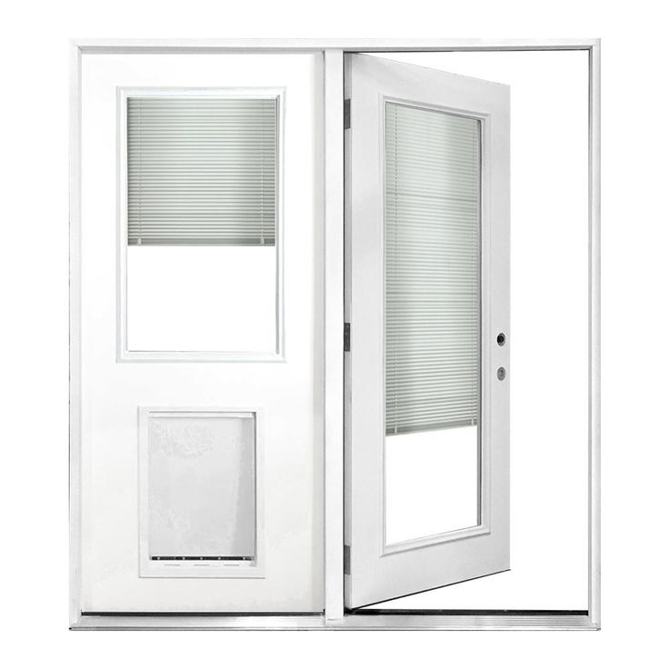 Steves Amp Sons 60 In X 80 In Clear Full Lite White Right Hand Primed Prehung Fiberglass Inswing Center Hinged Patio Doors Patio Doors Folding Patio Doors