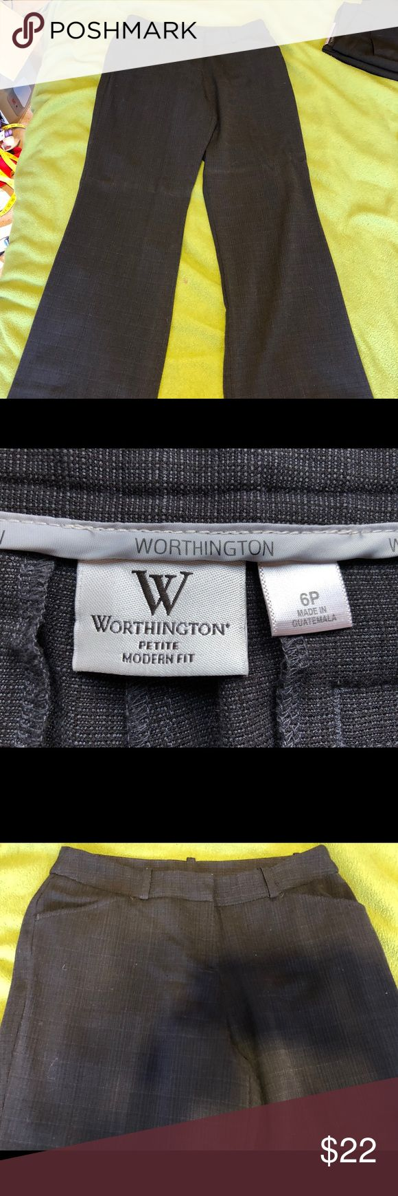 Worthington Petite navy blue dress pants-6p Worn once. Smoke free home . 6 petite, modern fit. Make an offer! Worthington Pants Trousers