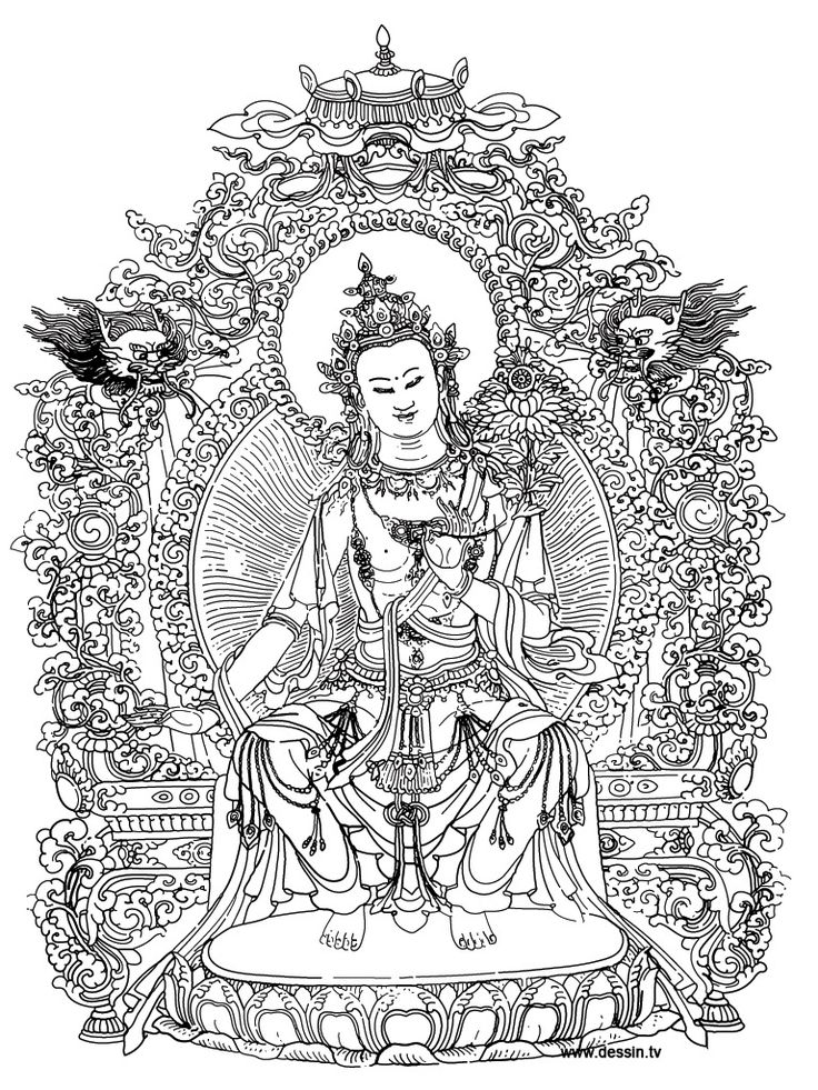 coloring pages buddah - photo#36