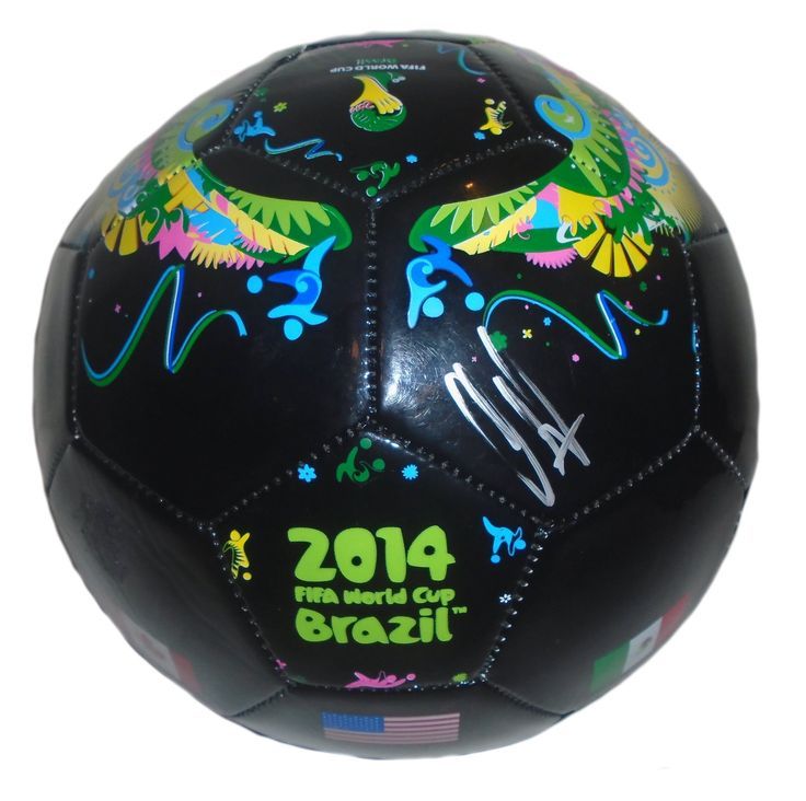 Clint Dempsey Autographed 2014 FIFA World Cup Logo Black Soccer Ball, Proof Photo. Clint Dempsey Signed 2014 FIFA World Cup Logo Soccer Ball, Proof Photo  This is a brand-new Clint Dempsey autographed 2014 FIFA World Cup logo black soccer ball.  The soccer ball is size 5. Clint signed the soccer ball in silver sharpie. Check out the photo of Clint Dempsey signing for us. ** Proof photo is included for free with purchase. Please click on images to enlarge. Please browse our website for…