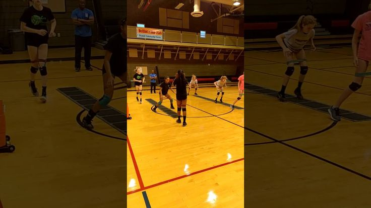 Junior Breakfast Club Members Working With Coach D In September Click The Link Below To R Volleyball Training Coaching Volleyball Volleyball Practice