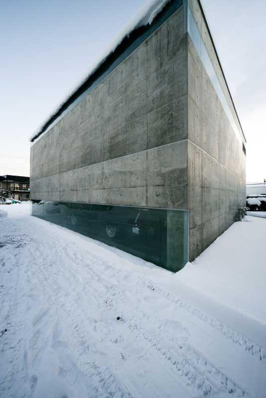 Asahikawa Garage || Japan : Kamikawa || Contemporary Japanese Garage || design by Jun Igarashi Architects Inc.