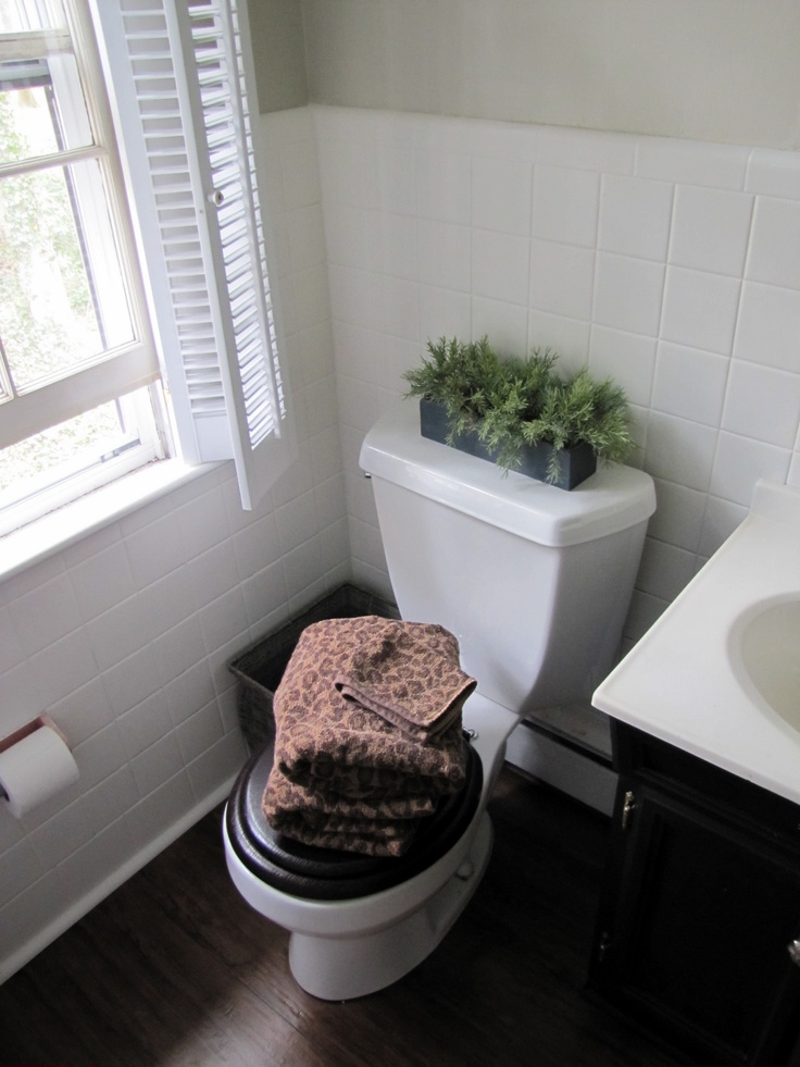 Quick N Cheap Bathroom Makeover From The Painted House This Would Sure Tide Us Over