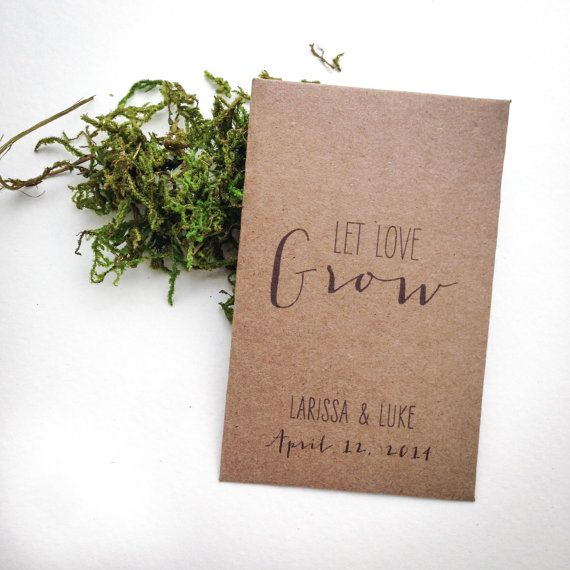 Rustic Seed Packet Favors Handmade Mini Kraft by TheCrookedTwig, $1.50