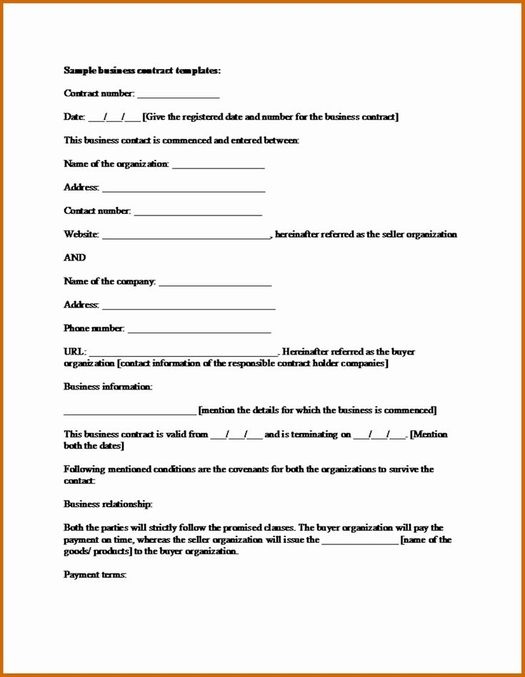 Contractors Contract Template Free Best Of 6 7 Blank ...