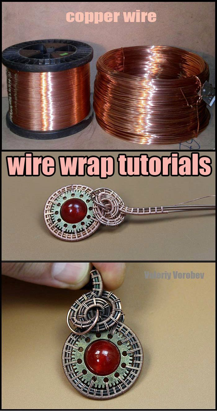 Pendant Made Of Copper Wire Gears And Beads In 2020 Handmade Jewelry Designs Jewelry Making Ideas Necklaces Beaded Earrings Diy