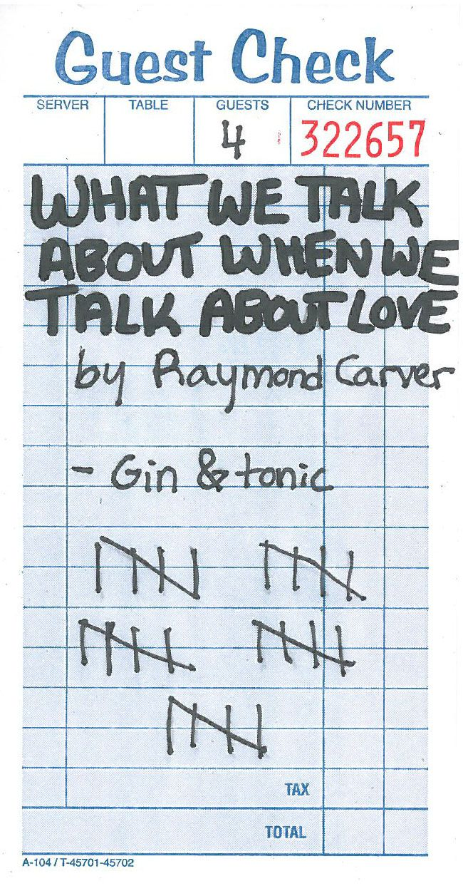 a summary of what we talk about when we talk about love by raymond carver Home → sparknotes → short story study guides → what we talk about when we talk about love what we talk about when we talk about love raymond carver and we.