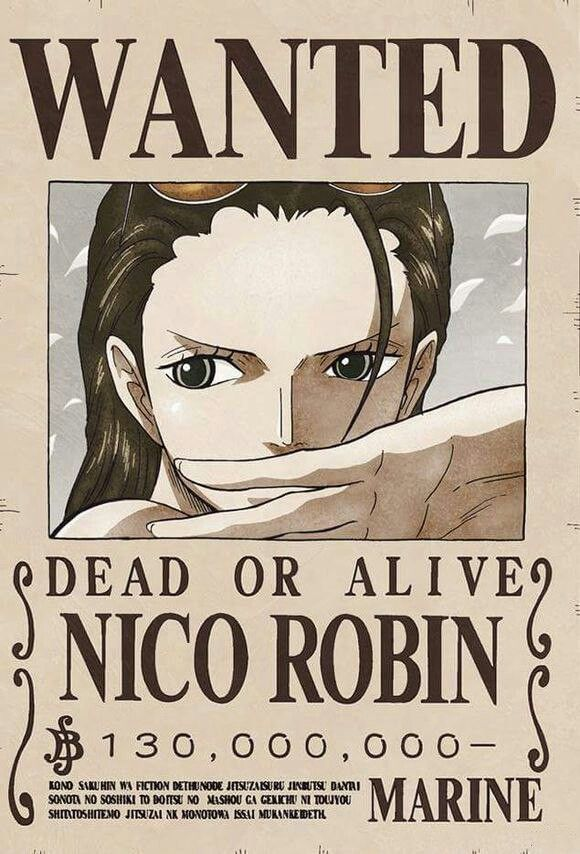Nico Robin wanted poster - New World