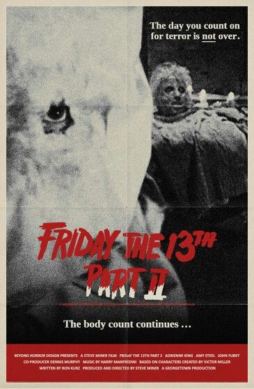 """Friday the 13th Part 2 (1981) - """"2x The Fear...2x The Carnage...2x The Terror!""""…"""
