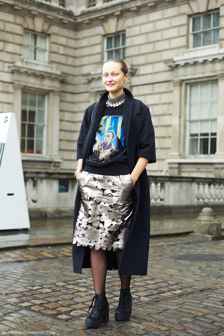 #DariaShapovalova being 27 types of cool in London. #LFW