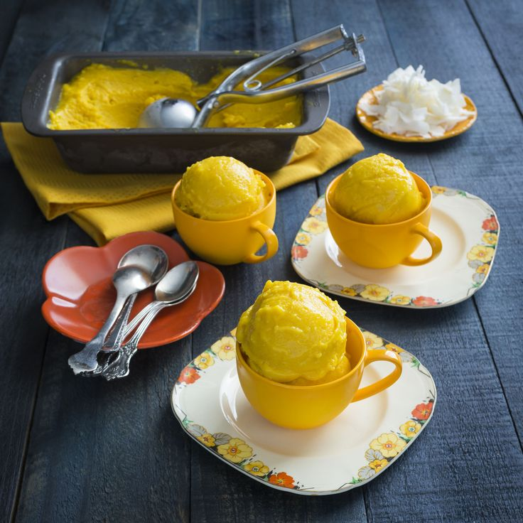 Thermomix | Mango & Turmeric sorbet | Flavours of Cookbook + Recipe Chip |