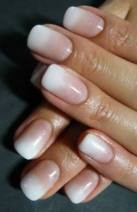 """""""French"""" ombre nails- classy"""