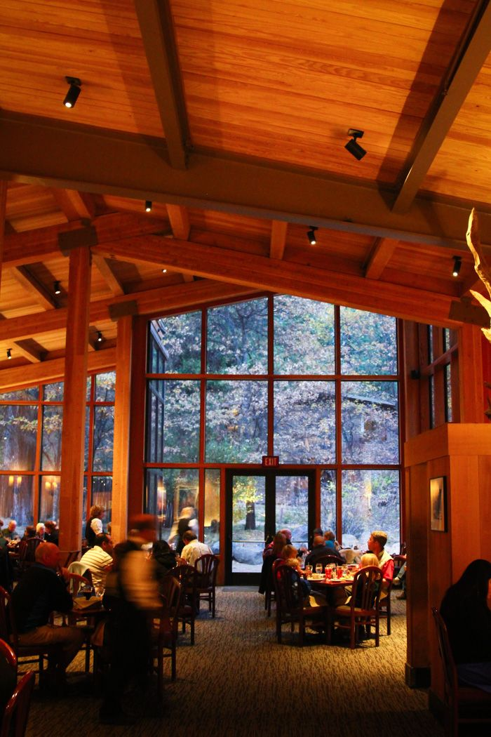 Travelogue: Weekend in Yosemite Valley. The Mountain Room restaurant at Yosemite Lodge.