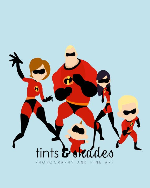 Hey, I found this really awesome Etsy listing at https://www.etsy.com/listing/207031167/the-incredibles-family-minimalist-poster