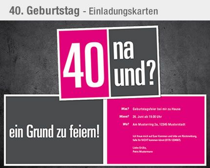 the 255 best images about geburtstag 40 on pinterest | deko, 40th, Einladung