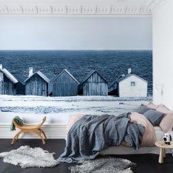 Nautisch behang blauwe zee en strand online mural kopen bij LIVING-shop.eu behang webshop http://www.living-shop.nl.rw.nu