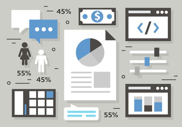 50 Free High Quality Analytics & Business Vector Illustrations