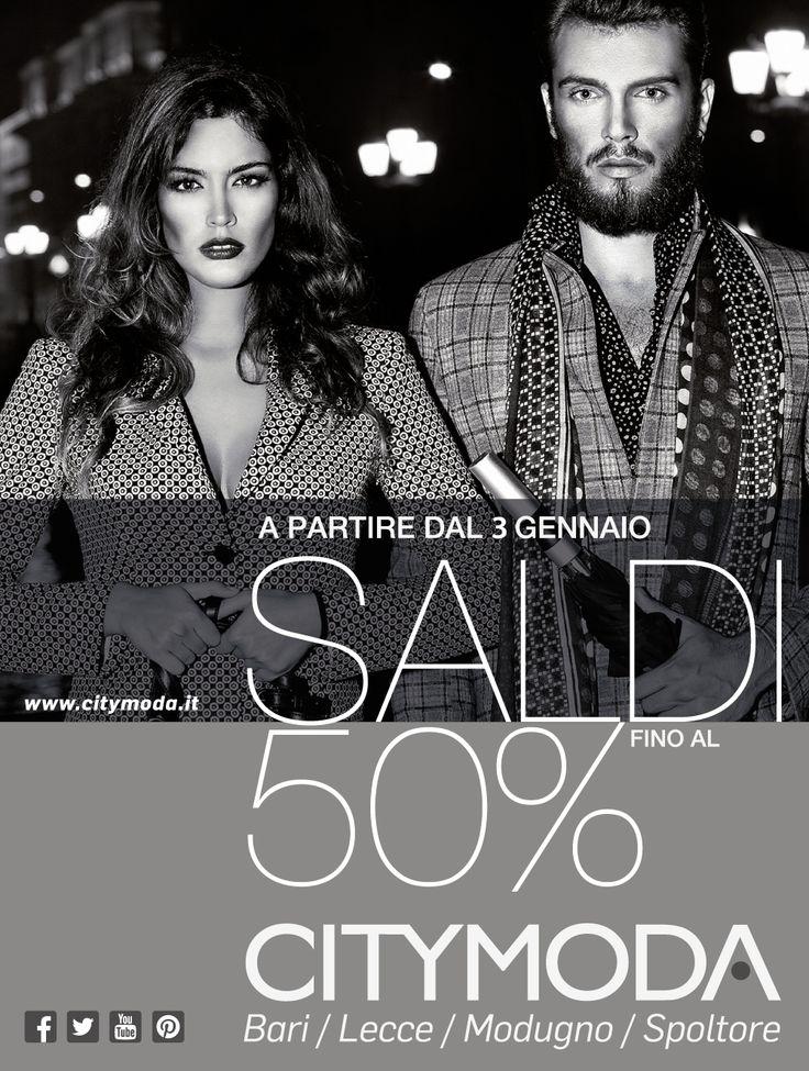 I capi più fashion e glamour del momento, le ultime tendenze uomo donna e bambino con sconti fino al 50% Dal 3 gennaio ti aspettano i saldi CityModa. Non mancare