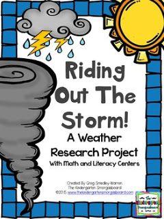The Kindergarten Smorgasboard: Schedulin' Sunday!  Weather!