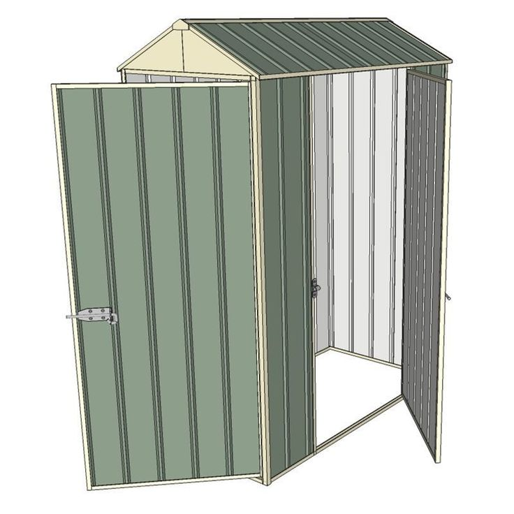 Find Build-a-Shed 0.8 x 1.5 x 2.3m Gable Single Hinged Side Door Shed - Green at Bunnings Warehouse. Visit your local store for the widest range of garden products. #12x12ShedPlan
