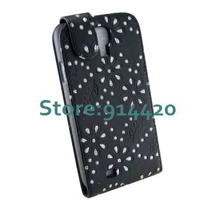 Galaxy s4 Luxury case,Diamond bling flip leather cover for Samsung Galaxy SIV S4 i9500 DHL SHIP 30PCS/LOT-in Phone Bags & Cases from Phones & Telecommunications on Aliexpress.com