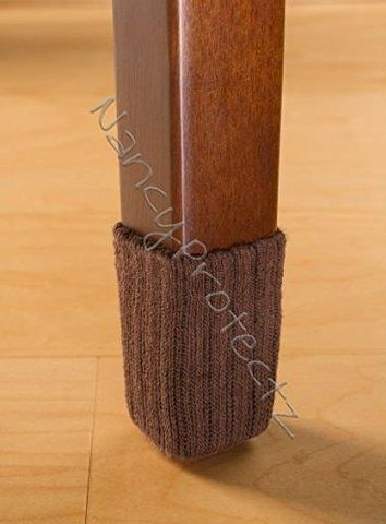Charming X Small/Chocolate Brown  Furniture Floor Protectors  8 Pack NancyProtectz Chair  Floor