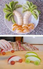 """Sol Naciente: *Decorando tus frutas. Para llamar la atención de los niños e incluirlas en la alimentación. También se pueden usar para decorar mesas de desayunos """"buffetes"""""""