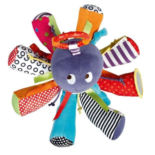 Детские погремушки Осьминог Игрушки кровать висит Колокол для BB волшебное зеркало младенческой куклы прорезыватель игрушки купить на AliExpress