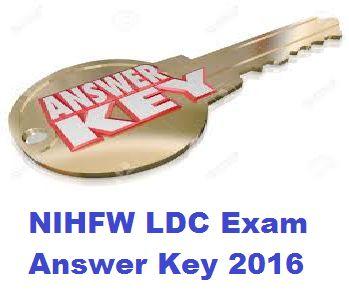 NIHFW Answer Key