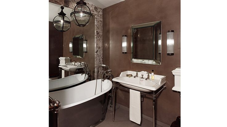 1000 images about bathroom ideas on pinterest chevron for Chocolate brown and blue bathroom ideas