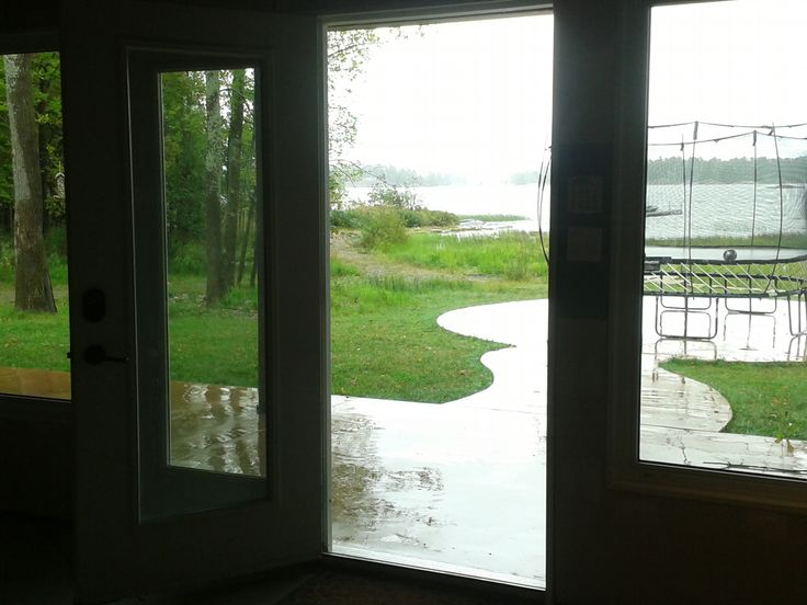Ground level basement has 3 roughed-in bedrooms and bathroom, with tons of large windows and walk out to the patio in this beautiful Custom 4 bdrm, 3.5 bathroom Waterfront House for Sale in Whitefish Falls, on Lake Huron, Sudbury-Manitoulin http://www.waterfronthouseforsale.ca