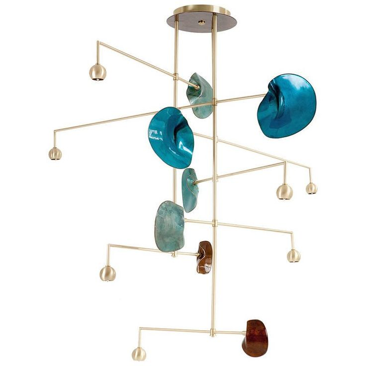 Exclusive Derrick Chandelier | From a unique collection of antique and modern chandeliers and pendants at https://www.1stdibs.com/furniture/lighting/chandeliers-pendant-lights/