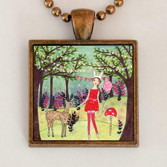 Woodland Friend Pendant Necklace