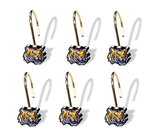 Northwest Lsu Tigers Shower Curtain Rings Northwest Https Www Amazon Com Dp B00lqzpxfu Ref Cm Sw R Pi Dp U X Zkjpebaq56h In 2020 Sports Gifts Stuff To Buy Lsu Tigers