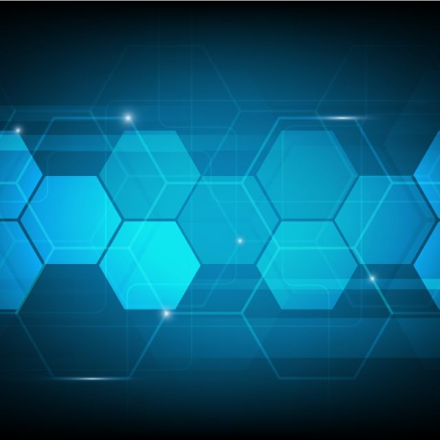 Abstract Blue Digital Technology Background Futuristic Concept