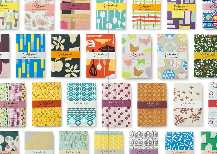 Seasonal magazine 'SALVIA' - various cover designs:  Yurio Seki's Designs and Patterns